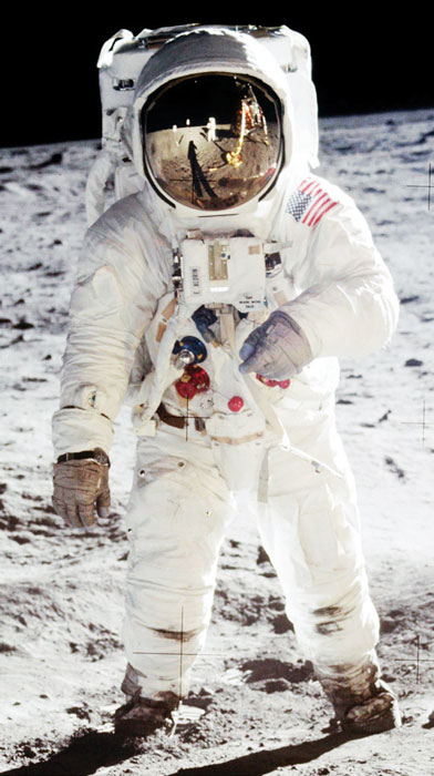 Buzz Aldrin's moonwalk