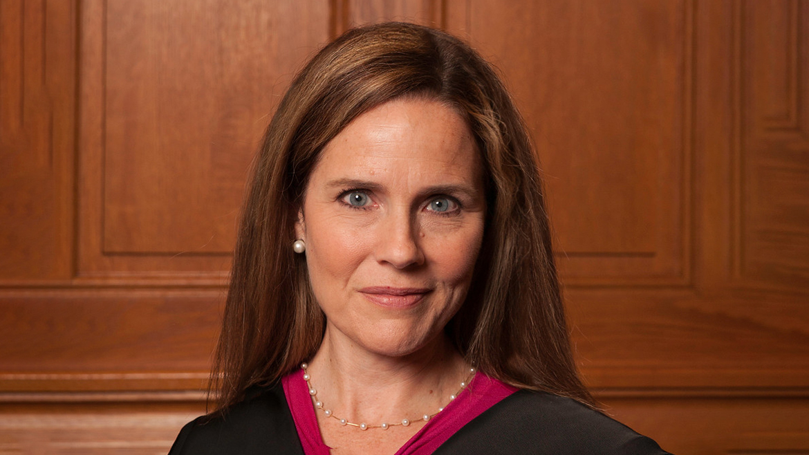 Amy Coney Barrett in judge's robe