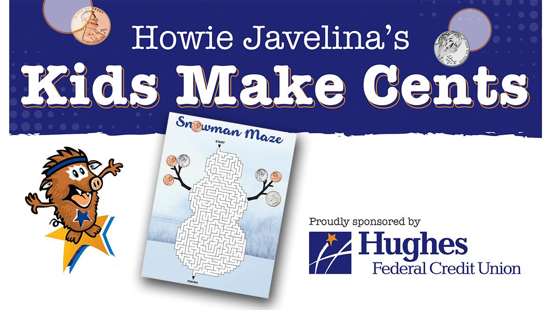 How Javelina's Kids Make Cents Snowman Maze