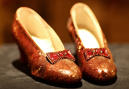 sequined sparkly slippers
