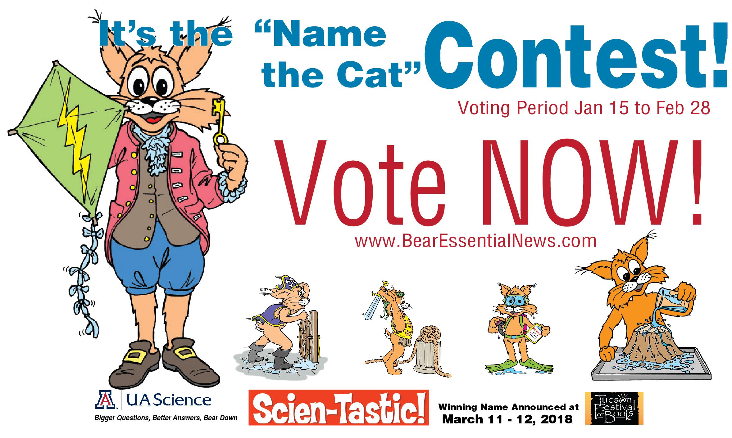 Click to Vote to Name Scien-tastic Bobcat!
