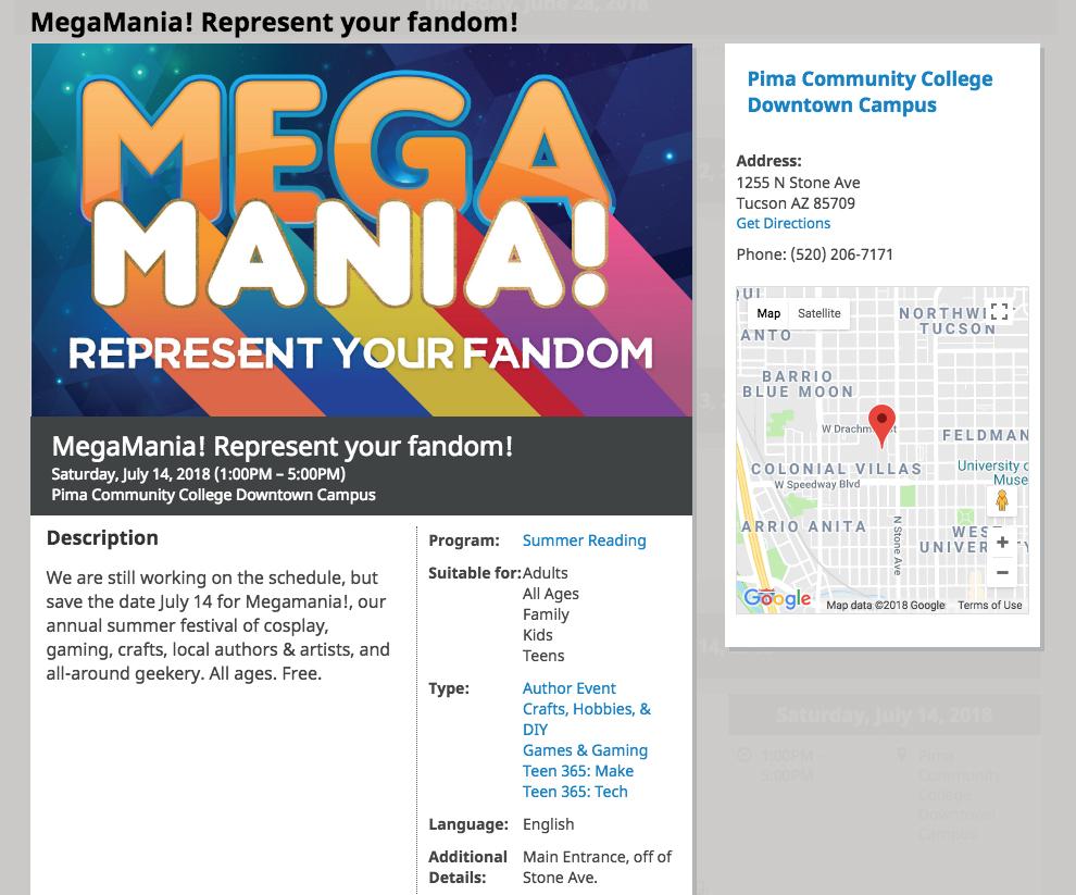 Tucson Mega Mania Represent Your Fandom Click For Details Bear