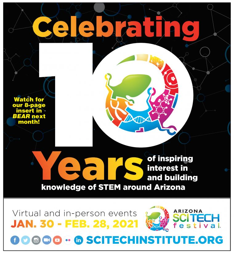 Celebrating 10 years of inspiring interest in and building knowledge of STEM around Arizona.