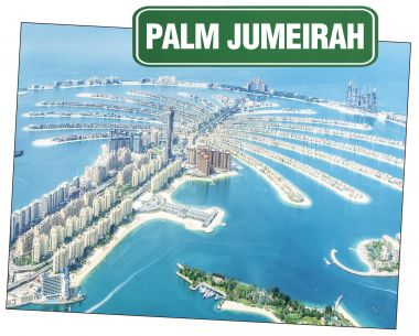 Sky view of Palm Jumeirah