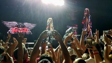 Aerosmith headlined the Sunday Capital One Jamfest at the Margaret T. Hance Park in Phoenix, Arizona.