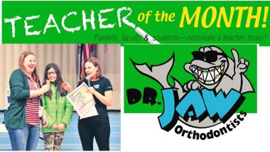 Dr. Jaw Teacher of the Month Header
