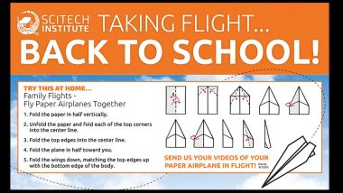 Taking Flight Back to School Paper Airplane making