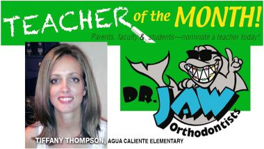 Tiffany Thompson from Agua Caliente Elementary