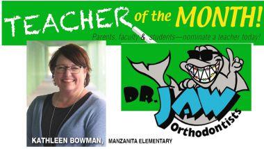 Kathleen Bowman from Manzanita Elementary