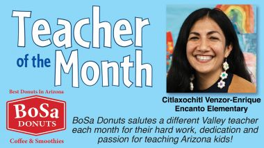 Citlaxochitl Venzor-Enrique is the Teacher of the Month