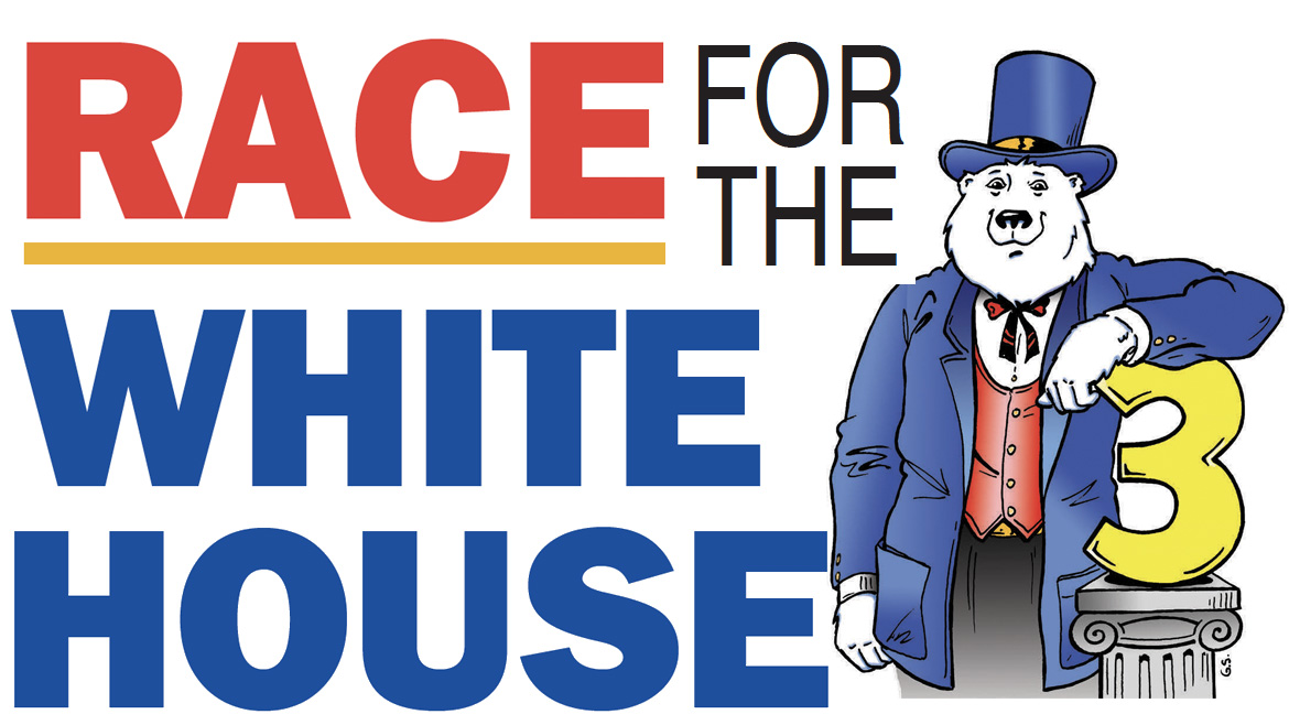 Boomer dressed up for election day. Race fo the White House type.
