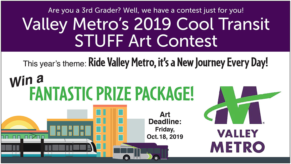 3rd Grader's Valley Metro 2019 Cool Transit STUFF Art