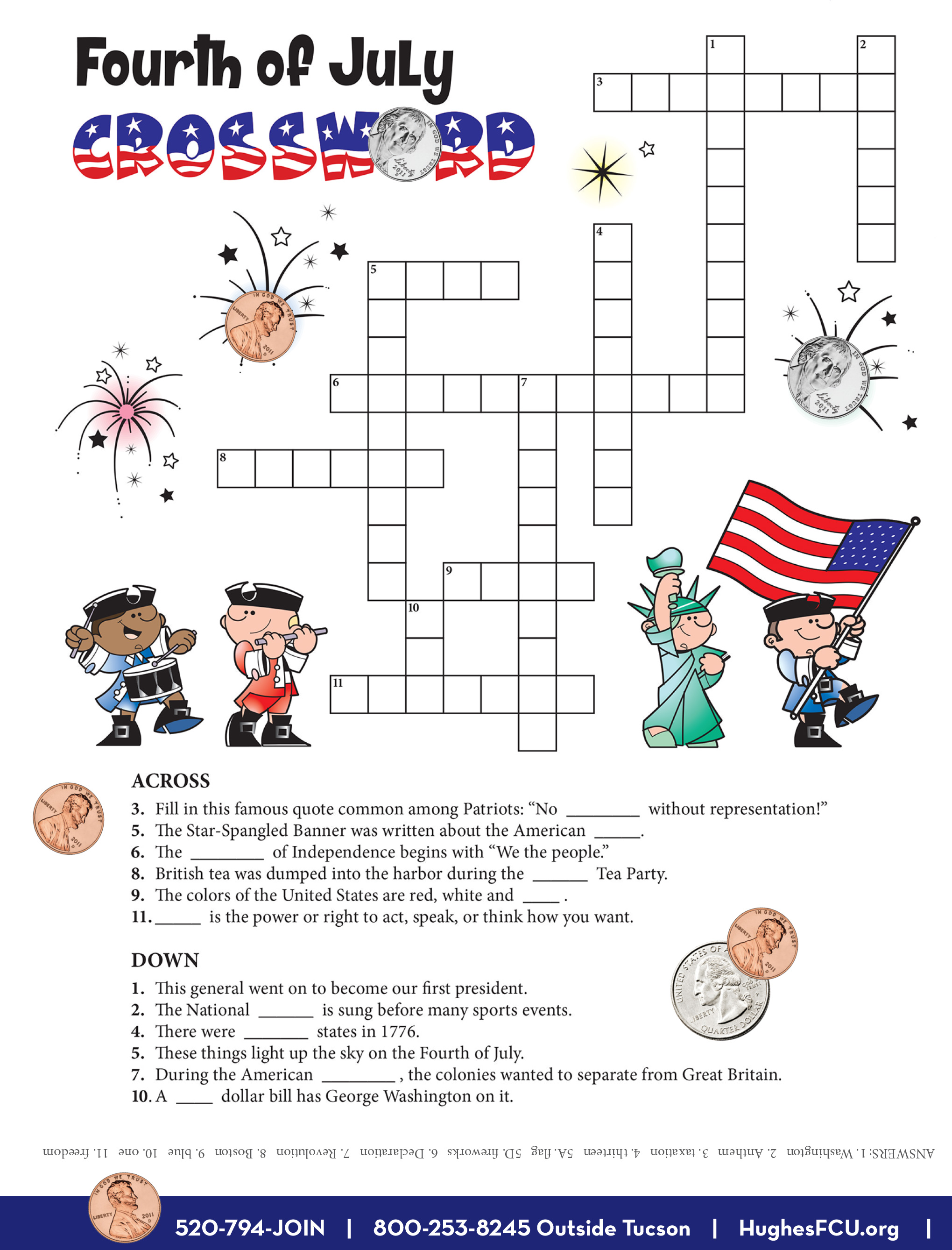 Try Your Luck With Fourth of July Crossword!   Bear ...