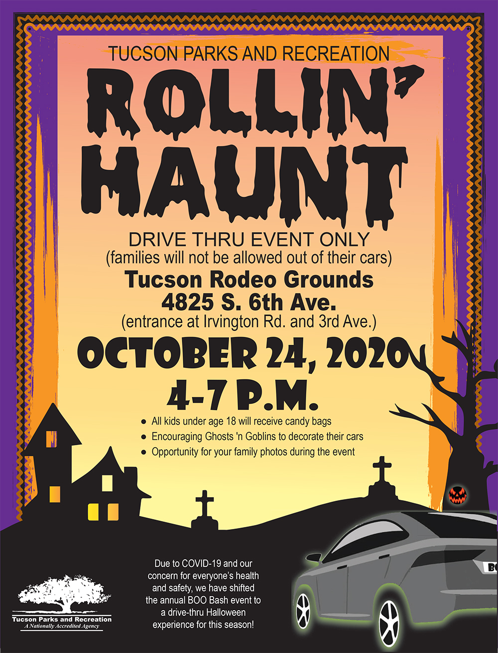 2020 Tucson Halloween Safety Bash Rollin' Haunt  Tucson Parks and Rec | Bear Essential News