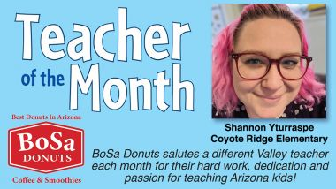 Shannon Yturraspe from Coyote Ridge Elementary - Teacher of the Month